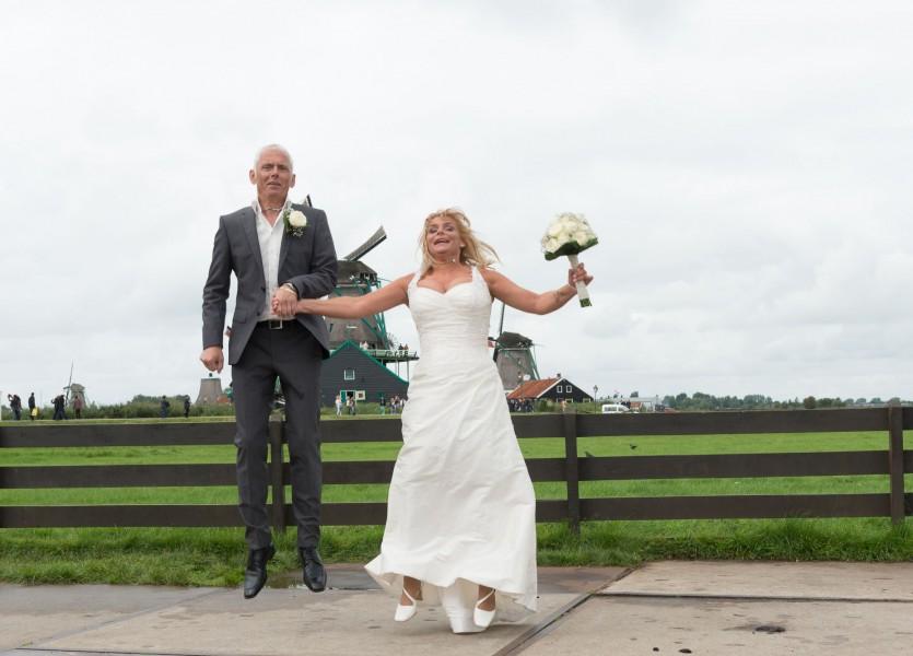 bruidsreportage zaanse schans bruidfotografie huwelijksreportage trouwen 2013Johanna en Marcel800 0587