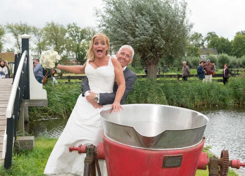 bruidsreportage zaanse schans bruidfotografie huwelijksreportage trouwen 2013Johanna en Marcel800 0591