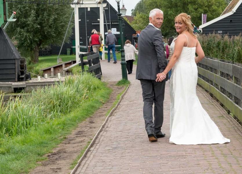 bruidsreportage zaanse schans bruidfotografie huwelijksreportage trouwen 2013Johanna en Marcel800 0600