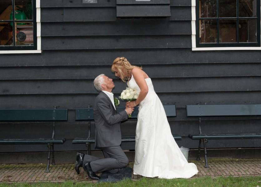 bruidsreportage zaanse schans bruidfotografie huwelijksreportage trouwen 2013Johanna en Marcel800 0614