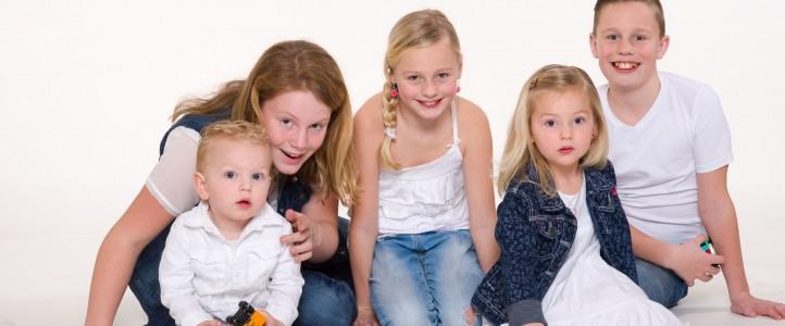 Familieshoot voor familieportret