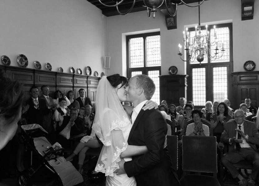 bruidsreportage Alkmaar trouwreportage trouwfoto bruidspaar 2014Däphny & KlaasDSC 4464