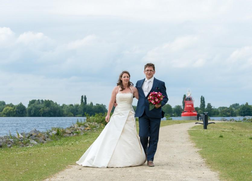 bruidsreportage aalsmeer trouwreportage trouwfoto bruidspaar 2014Joyce & ChrisDSC 5977